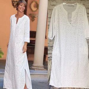 Soft Surroundings Cantadora Kaftan Maxi Dress PM